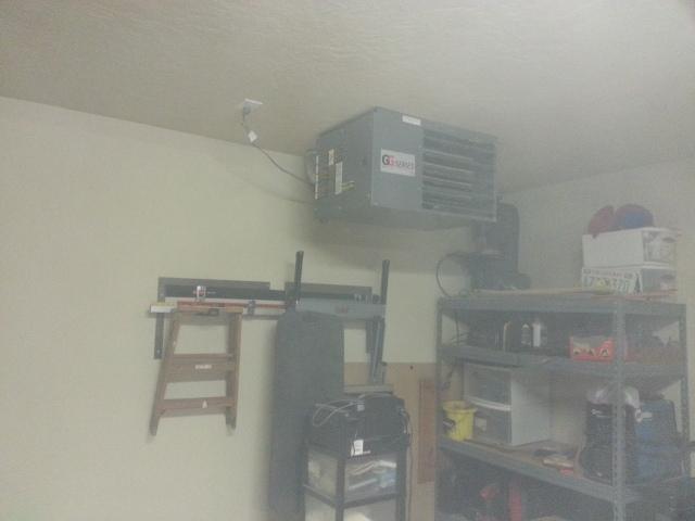 """Gas Heater in Garage """"Man Cave"""""""